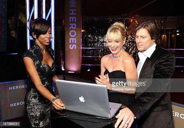 Actors Holly Robinson Peete Katherine LaNasa and Grant Show attend the CNN Heroes An All Star Tribute at The Shrine Auditorium on December 2 2012 in...