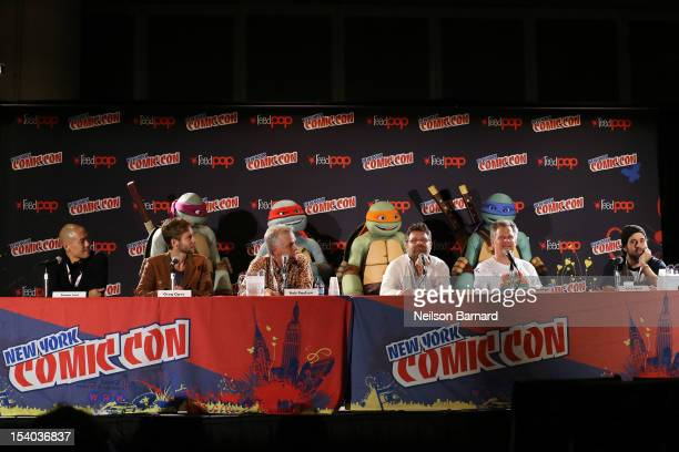 Actors Hoon Lee Greg Cipes Rob Paulsen and Sean Astin executive producers Peter Hastings and Ciro Nieli from Nickelodeon's all new CGanimated series...