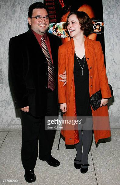 Actors Horatio Sanz and Jenn Schatz arrive at the UN for the Screening of Holly and the launch of the Somaly Mam Foundation on November 7 2007 in New...
