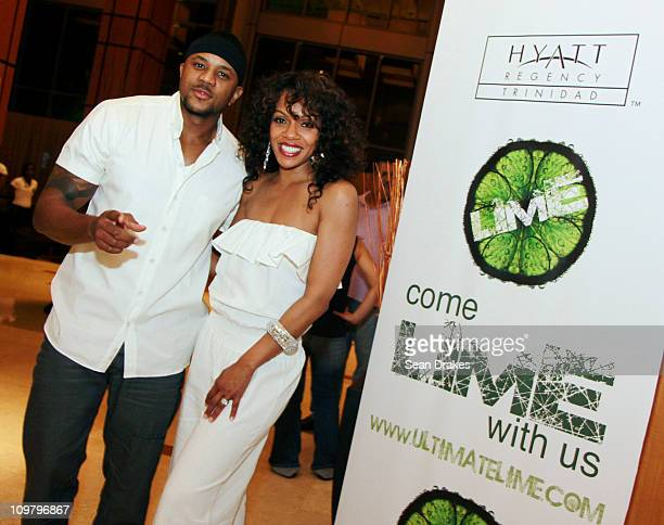 Actors Hosea Chanchez and Wendy Racquel Robinson of the serie The Game attend to the LIME Carnival fete at Hyatt Regency on March 2 2011 in Port of...