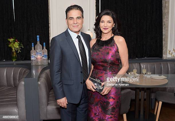 Actors Houshang Touzie and Shohreh Aghdashloo attend the Septembers of Shiraz TIFF Party Hosted By GREY GOOSE Vodka at Byblos on September 15 2015 in...