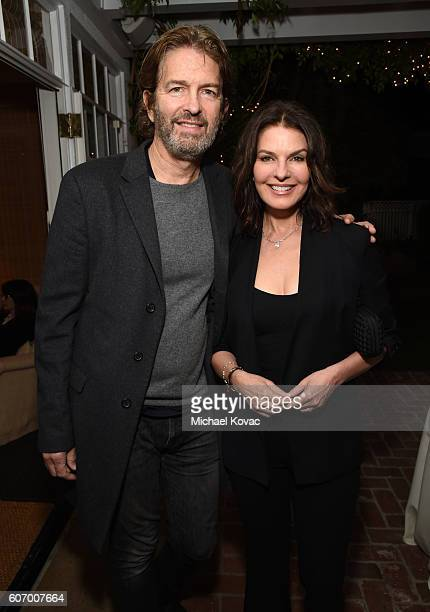 Actors Howard Sherman and Sela Ward attend the Gersh Emmy Party presented by World Class Spirits at a private residence on September 16 2016 in Los...