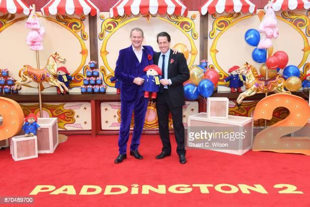 Actors Hugh Bonneville and Hugh Grant attend the 'Paddington 2' premiere at BFI Southbank on November 5 2017 in London England