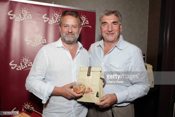 Actors Hugh Bonneville and Jim Carter attend the GBK Productions Luxury Lounge During Emmy's Weekend at W Hollywood on September 21 2012 in Hollywood...