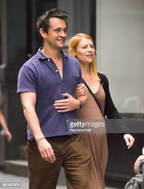 Actors Hugh Dancy and Claire Danes are seen in SoHo on May 22 2018 in New York City