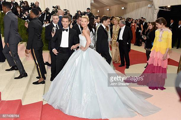 Actors Hugh Dancy and Claire Danes attends the Manus x Machina Fashion In An Age Of Technology Costume Institute Gala at Metropolitan Museum of Art...