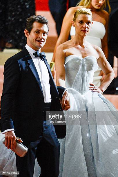 Actors Hugh Dancy and Claire Danes leave the Manus x Machina Fashion In An Age Of Technology Costume Institute Gala at the Metropolitan Museum Of Art...