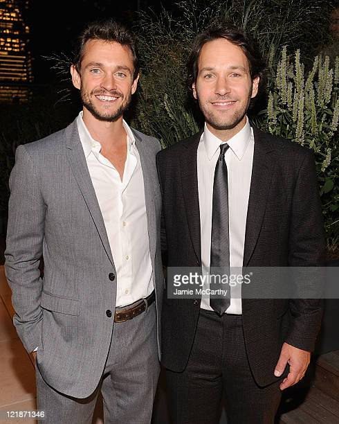 Actors Hugh Dancy and Paul Rudd attend The Cinema Society Altoids screening of The Weinstein Company's Our Idiot Brother at 1 MiMA Tower on August 22...