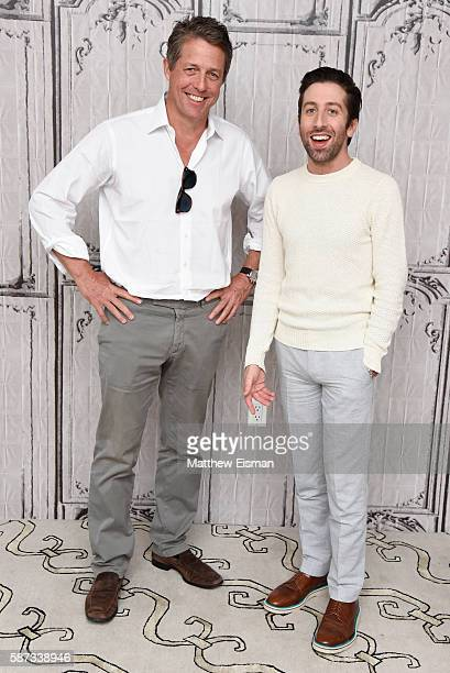 "Actors Hugh Grant and Simon Helberg attend AOL Build Presents Hugh Grant and Simon Helberg discussing their new film ""Florence Foster Jenkins"" at AOL..."