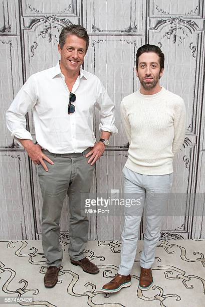 Actors Hugh Grant and Simon Helberg attend the AOL Build Speaker Series to discuss 'Florence Foster Jenkins' at AOL HQ on August 8 2016 in New York...