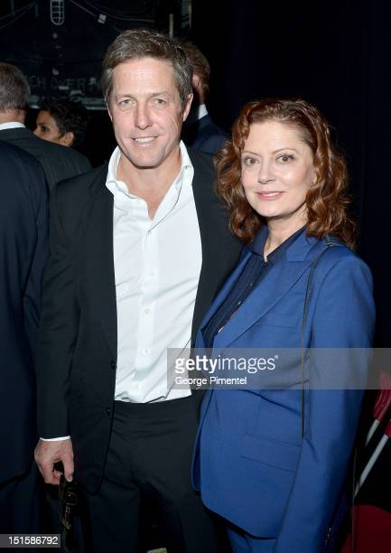 Actors Hugh Grant and Susan Sarandon attend the Cloud Atlas premiere during the 2012 Toronto International Film Festival at the Princess of Wales...