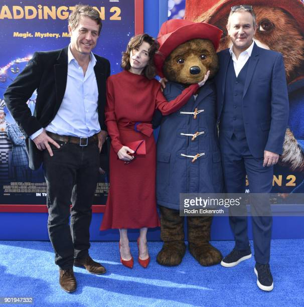 Actors Hugh Grant Sally Hawkins and Hugh Bonneville arrive at the premiere of Warner Bros Pictures' Paddington 2 at Regency Village Theatre on...