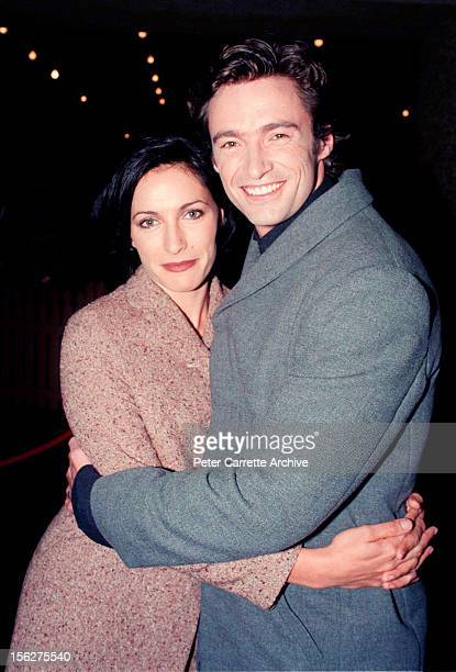 Actors Hugh Jackman and Claudia Karvan attend the premiere of the film 'Paperback Hero' at Hoyts Cinema on March 25 1999 in Sydney Australia