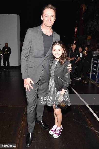 Actors Hugh Jackman and Dafne Keen winners of the Best Duo award for 'Logan' attend the 2017 MTV Movie And TV Awards at The Shrine Auditorium on May...