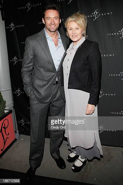 Actors Hugh Jackman and DeborraLee Furness attend Ivanka Trump's Fine Jewelry Boutique opening at on December 12 2011 in New York City