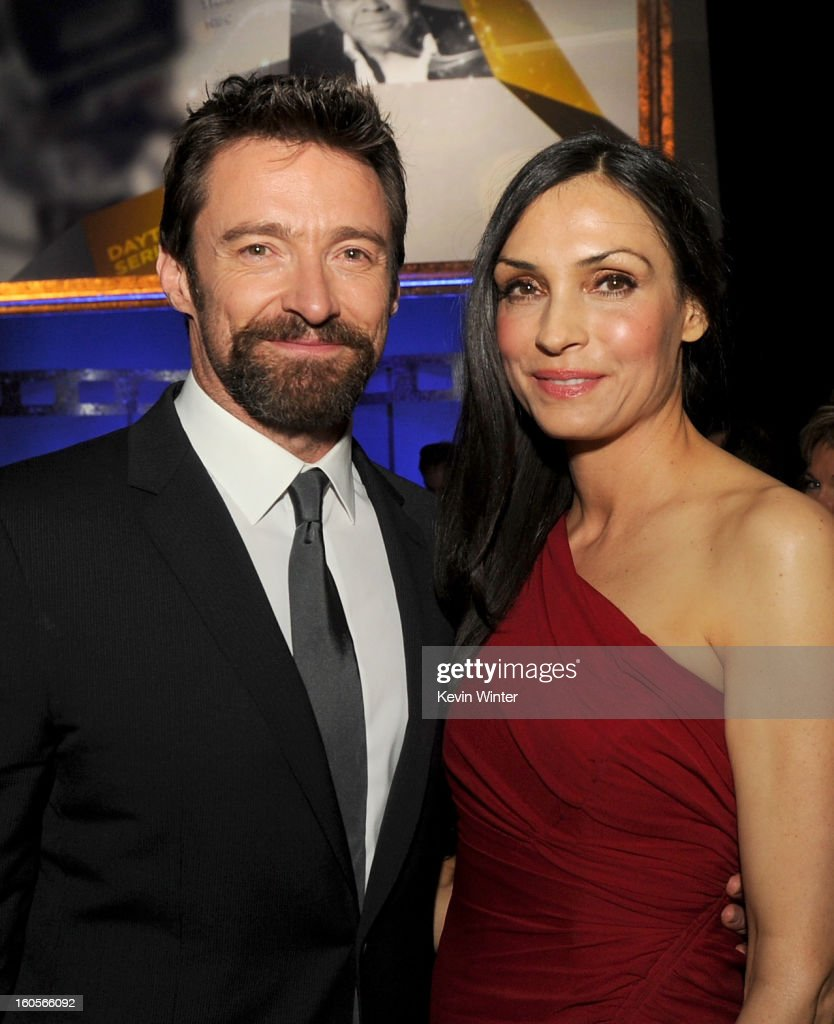 Actors Hugh Jackman and Famke Janssen attend the 65th Annual Directors Guild Of America Awards at Ray Dolby Ballroom at Hollywood & Highland on February 2, 2013 in Los Angeles, California.