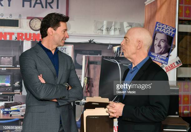 Actors Hugh Jackman and JK Simmons attend 'The Front Runner' Photo Call at Crosby Street Hotel on September 24 2018 in New York City