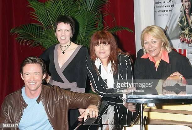 Actors Hugh Jackman Angela Toohey Chrissy Amphlett and Colleen Hewett attend a press conference announcing a national tour of the hit Broadway show...