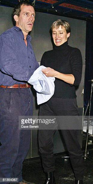 Actors Hugh Laurie and Emma Thompson at the Oscar Moore Screenwriting Prize Awards Dinner held at Sound Leicester Square on 28th November 2001 in...
