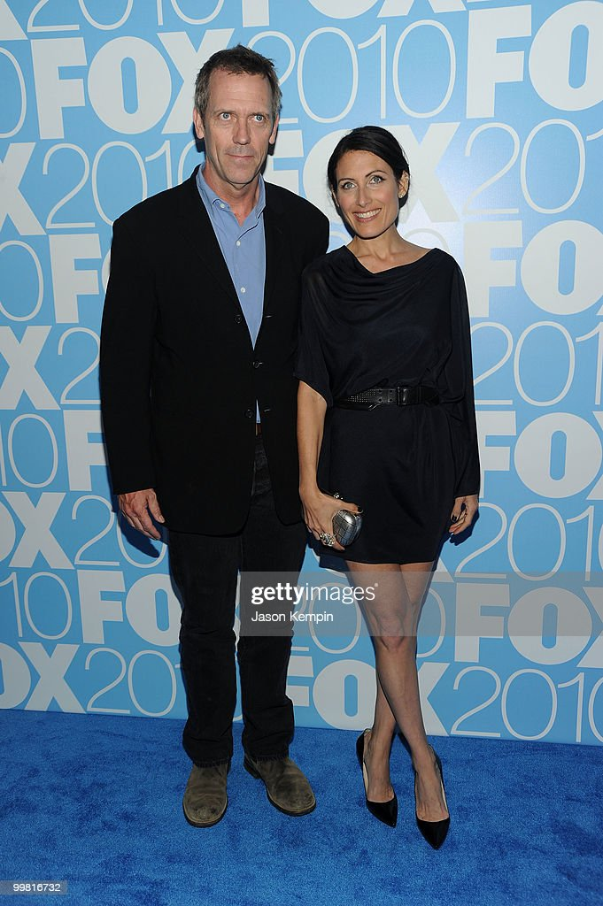 Actors Hugh Laurie and Lisa Edelstein attend the 2010 FOX Upfront after party at Wollman Rink, Central Park on May 17, 2010 in New York City.