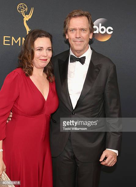 Actors Hugh Laurie and Olivia Colman attend the 68th Annual Primetime Emmy Awards at Microsoft Theater on September 18 2016 in Los Angeles California
