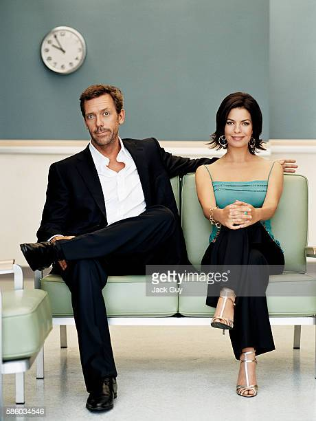 Actors Hugh Laurie and Sela Ward are photographed for TV Guide in 2005
