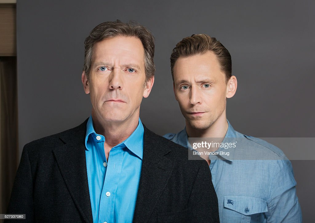 Hugh Laurie and Tom Hiddleston, Los Angeles Times, April 17, 2016