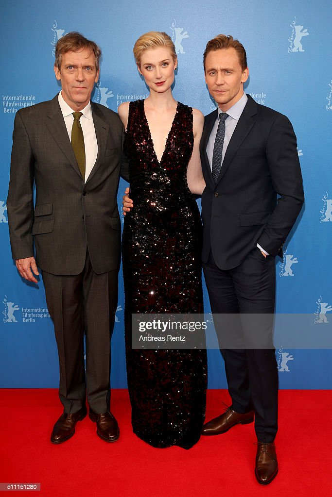 Actors Hugh Laurie, Elizabeth Debicki and Tom Hiddleston attend the 'The Night Manager' premiere during the 66th Berlinale International Film Festival Berlin at Haus der Berlinale on February 18, 2016 in Berlin, Germany.
