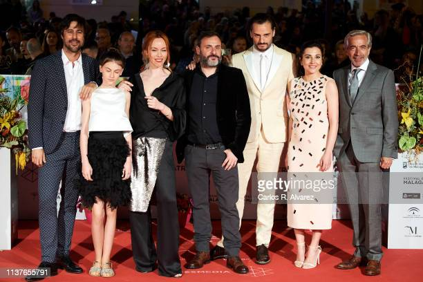 Actors Hugo Silva Stephanie Gil Olimpia Melinte director Alfonso CortesCavanillas Asier Etxeandia Marian Alvarez and Imanol Arias attend the...