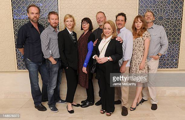 Actors Hugo Weaving Richard Roxburgh Cate Blanchett Sandy Gore John Bell Jacki Weaver Andrew Tighe Hayley McElhinney and Anthony Phelan pose for the...
