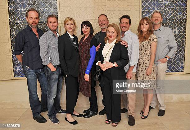 Actors Hugo Weaving Richard Roxburgh Cate Blanchett Sandy Gore John Bell Jacki Weaver Andrew Tighe Hayley McHlhinney and Anthony Phelan attend the...