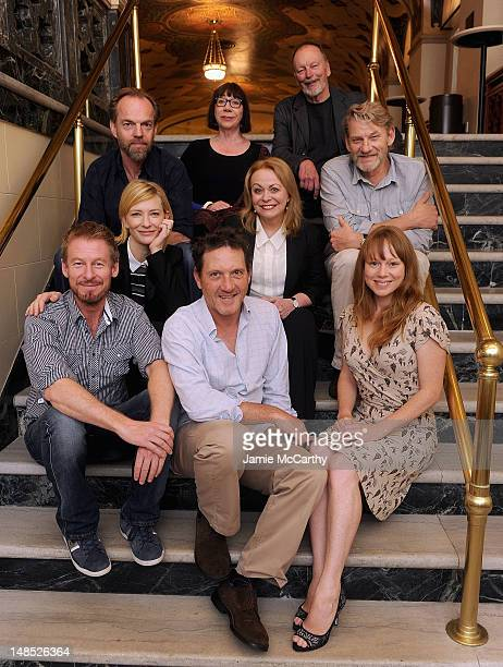 Actors Hugo Weaving Sandy Gore John Bell Cate Blanchett Jacki Weaver Anthony Phelan Richard Roxburgh Andrew Tighe and Hayley McElhinney pose for the...