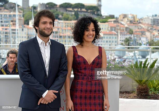 Actors Humberto Carrao and Maeve Jinkings attend the Aquarius photocall during the 69th Annual Cannes Film Festival at the Palais des Festivals on...