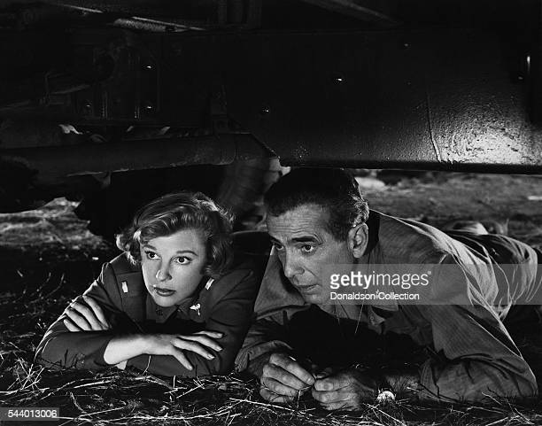 Actors Humphrey Bogart and June Allyson pose for a publicity still for the MGM film 'Battle Circus' in 1953 in Los Angeles California