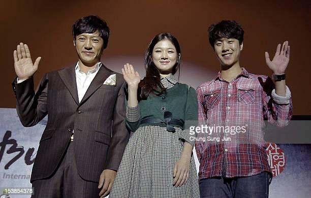 Actors Hwang TaeKwang Kim SooIn and Shin soHyun attend Meet the Guest 'Actors of Vision' during the 17th Busan International Film Festival at Busan...