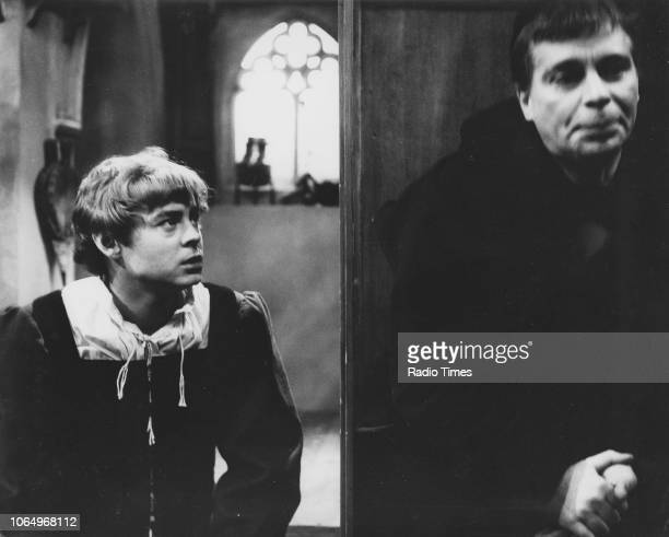 Actors Hywel Bennett and Anthony Newlands in a scene from the BBC Play of the Month 'Romeo and Juliet', March 9th 1967.