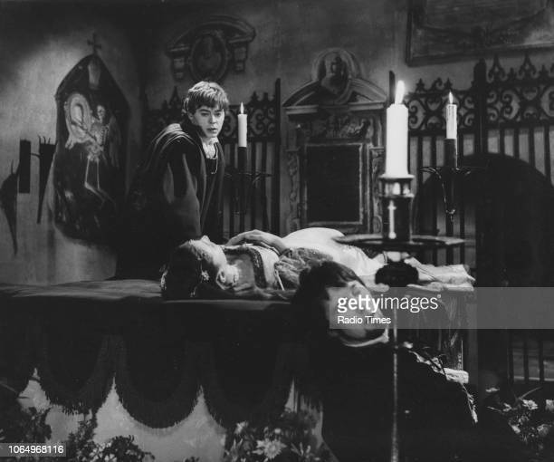 Actors Hywel Bennett and Kika Markham in a scene from the BBC Play of the Month 'Romeo and Juliet', March 9th 1967.