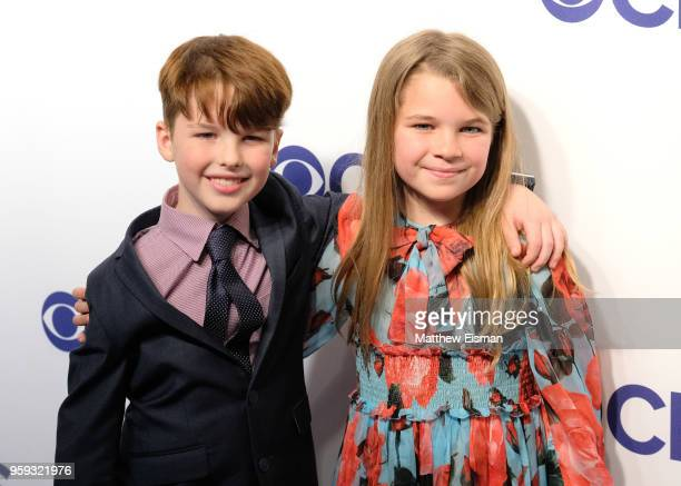 Actors Iain Armitage and Raegan Revord attend the 2018 CBS Upfront at The Plaza Hotel on May 16 2018 in New York City