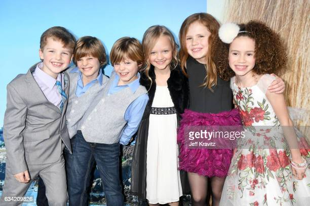 Actors Iain Armitage Cameron Crovetti Nicholas Crovetti Ivy George Chloe Coleman and Darby Camp attend the premiere of HBO's 'Big Little Lies' at the...