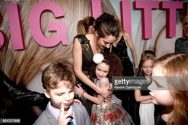 Actors Iain Armitage Shailene Woodley and Chloe Coleman attend the premiere of HBO's Big Little Lies at TCL Chinese Theatre on February 7 2017 in...