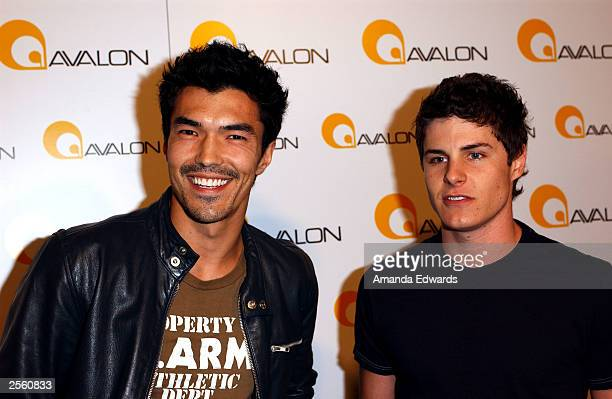 """Actors Ian Anthony Dale and Marc Senter arrive at the Grand Debut of """"Avalon"""" on October 3, 2003 in Hollywood, California."""