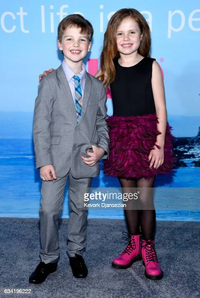 Actors Ian Armitage and Darby Camp attend the premiere of HBO's Big Little Lies at TCL Chinese Theatre on February 7 2017 in Hollywood California