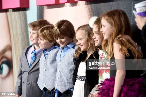 Actors Ian Armitage Cameron Crovetti Nicholas Crovetti Ivy George Chloe Coleman and Darby Camp attend the premiere of HBO's Big Little Lies at TCL...