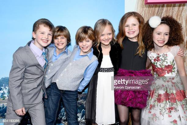 Actors Ian Armitage Cameron Crovetti Nicholas Crovetti Ivy George Darby Camp and Chloe Coleman attend the premiere of HBO's Big Little Lies at TCL...