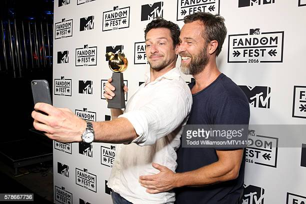 Actors Ian Bohen and JR Bourne attends the MTV Fandom Awards San Diego at PETCO Park on July 21 2016 in San Diego California