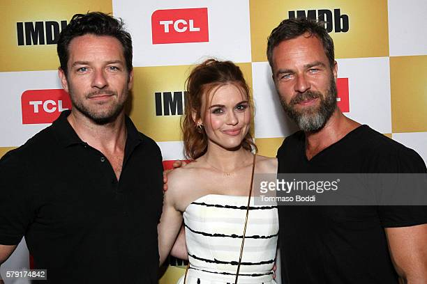 Actors Ian Bohen Holland Roden and JR Bourne attend the IMDb Yacht Party Presented By TCL at on July 22 2016 in San Diego California
