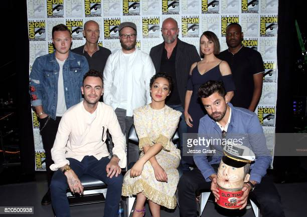 Actors Ian Colletti and Pip Torrens writer/producer/director Seth Rogen actors Graham McTavish Julie Ann Emery and Malcolm Barrett Joseph Gilgun Ruth...