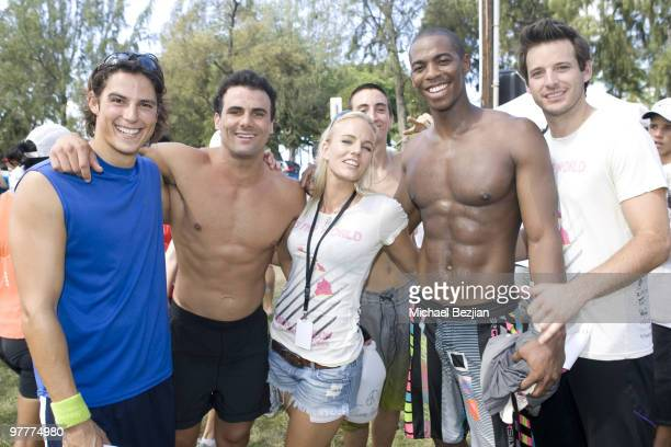 Actors Ian Cusick and Jeremy Jackson Hannah Cornett actor Darin Brooks and Robert Valetta attend the 1st Annual Charity Celebrity Triathlon Hosted By...