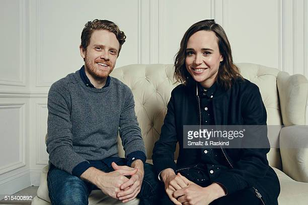 Actors Ian Daniel and Ellen Page are photographed in the Getty Images SXSW Portrait Studio powered by Samsung at the Samsung Studio on March 12 2016...