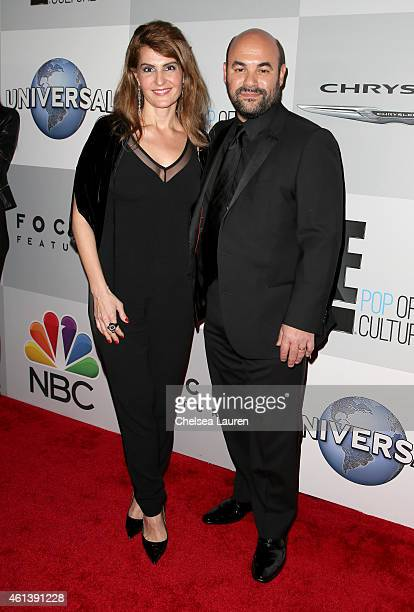 Actors Ian Gomez and Nia Vardalos attend the NBCUniversal 2015 Golden Globe Awards Party sponsored by Chrysler at The Beverly Hilton Hotel on January...